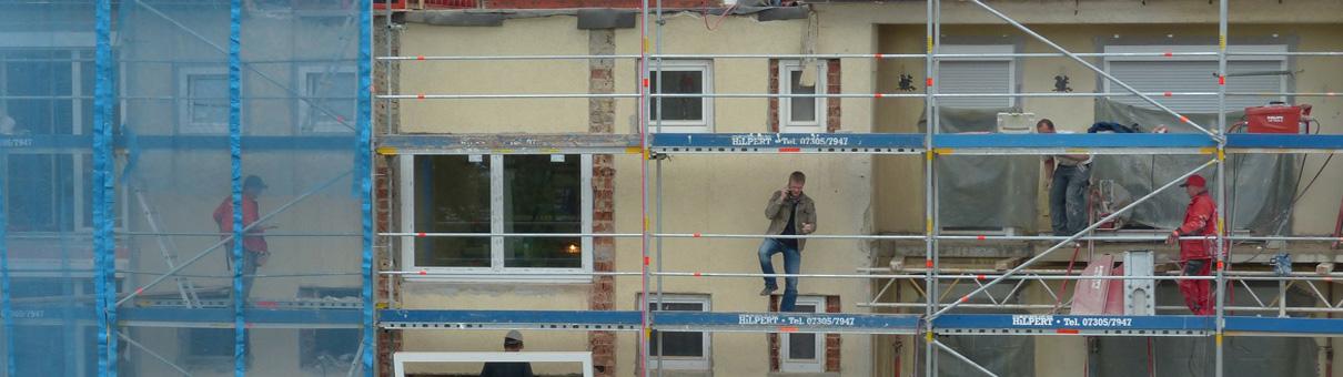 Wohnungsbau - Für Sanierung und Modernisierung sind wir Ihr Baupartner